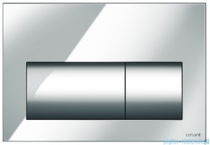 Cersanit Presto przycisk spłukujący 2-funkcyjny chrom K97-374