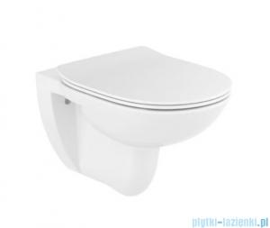 Roca Debba Round Rimless miska WC podwieszana z deską Slim A34H992000