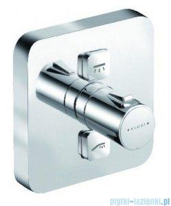 Kludi Push podtynkowa bateria natryskowa z termostatem chrom 388110538