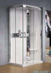 Novellini Glax 3 kabina prysznicowa standard 100x70 prawa srebrny GL3A197DM-1B