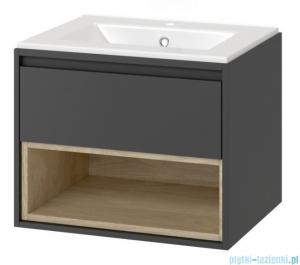 Excellent Tuto szafka wisząca z umywalką 80x50x45 cm szary dąb MLEX.0101.800.GRBL/CEEX.3617.800.WH