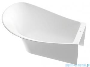 Marmorin Misa wanna przyścienna bez przelewu lewa 155x92 cm biała 634155720010