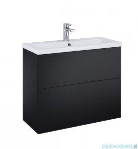 Elita Kido Set szafka z umywalką zestaw 81x67x35cm czarny mat 168100