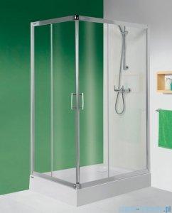 Sanplast kabina narożna prostokątna KN/TX5-80x100 szkło: Cora 600-270-0200-38-370