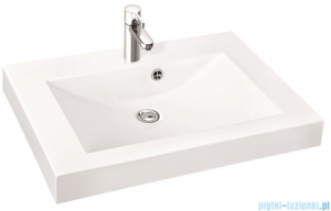 Marmorin umywalka nablatowa Moira Bis 60, 60 cm bez otworu biała 280060022010