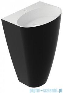 Omnires Siena UW umywalka wolnostojąca z otworem biało-czarny połysk SienaUWBCP