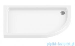 New Trendy Maxima Ultra brodzik asymetryczny posadzkowy na podstawie styropianowej lewy 100x80 B-0146/L