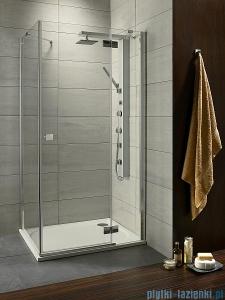 Radaway Kabina prysznicowa Almatea KDJ 120x90 prawa szkło grafitowe + brodzik Doros D + syfon 32144-01-05NR
