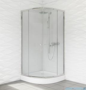 Duso kabina prysznicowa półokrągła 80x80x184 cm przejrzyste DS401T