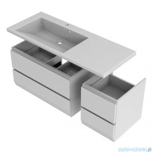 Oristo Brylant szafka z umywalką lewa 125x50x48cm grafit/biały OR36-SD2S-85-5/OR36-SD2S-40-5/UME-BR-125-92-L