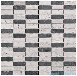 Dunin Woodstone mozaika kamienna 30x30 grey block mix 48
