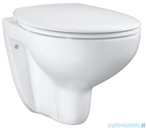 Zestaw Grohe Bau Ceramic miska WC wisząca bez kołnierza z deską wolnoopadającą biała 39351000