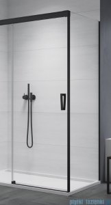 SanSwiss Cadura Black Line ścianka boczna Cast 90x200cm profile czarny mat CAST0900607