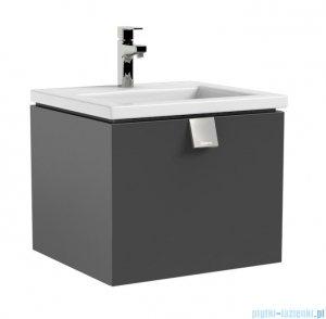 Oristo Bold szafka z umywalką Twins 50x39x45 grafit połysk OR46-SD1S-50-5/UME-TW-50-91