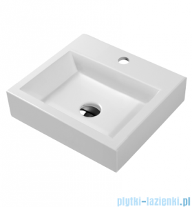 Omnires umywalka nablatowa 42x36cm biała Thasos360