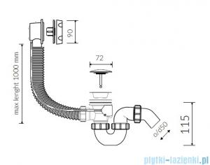 Marmorin syfon przelewowo-automatyczny SWA