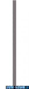 Paradyż uniwersalna listwa szklana fazowana grafit 3x75