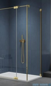 SanSwiss Cadura Gold Line ścianka boczna 100x200cm profile złote CAT31001207
