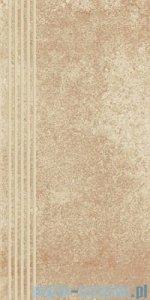 Paradyż Flash beige mat stopnica 30x60