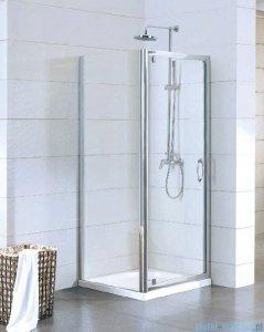 Kermi Acca Ściana boczna, szkło przezroczyste, profile srebrne 80x190cm ACTWD08019VPK
