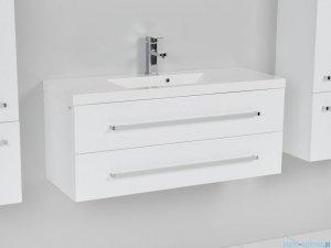 Antado Variete szafka z umywalką, wisząca z dwiema szufladami 100x39x40 biały połysk FM-C-442/10/2GT + UMMC-1000X390