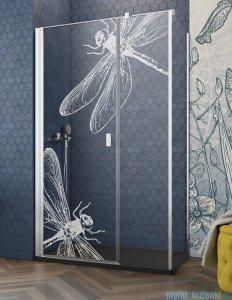 Grawer na szkle dla kabin Radaway wzór Dragonfly