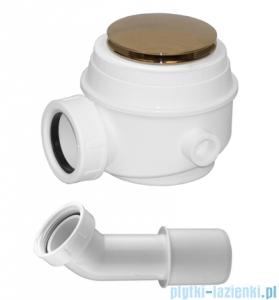 Omnires Syfon złoto brodzikowo-wannowy do brodzików z otworem 50 mm i wanien bez przelewu WB01XGL