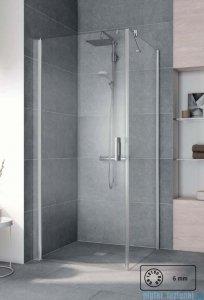 Kermi Pega Ściana boczna, szkło przezroczyste, profile srebrne 100x200cm PETWO10020VPK