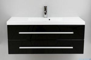 Antado Variete szafka z umywalką, wisząca z dwiema szufladami 100x39x40 czarny połysk FM-C-442/10/2GT-9017 + UMMC-1000X390