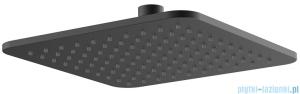 Omnires Slimline deszczownica mosiężna 20x20 cm czarna WG220/OBL