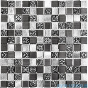 Dunin Metallic mozaika metalowa 30x30 allumi grey mix 23