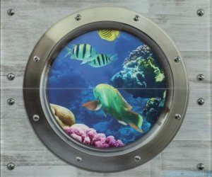 Ceramika Color Modern Wall Rybki szklany dekor 50x60
