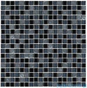 Dunin Aurora mozaika kamień/szkło 30x30 graphite 15