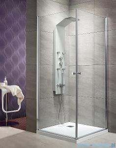 Radaway Eos KDD kabina prysznicowa 80x80 szkło przejrzyste + Brodzik Delos C + syfon 37213-01-01N