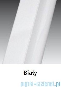 Novellini Ścianka Kabiny prysznicowej LUNES 90 cm szkło przejrzyste profil biały LUNESA90L-1D