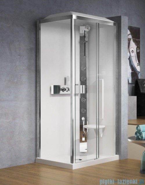 Novellini Glax 3 standard kabina prysznicowa 120x80 prawa srebrny GL32P120DM-1B