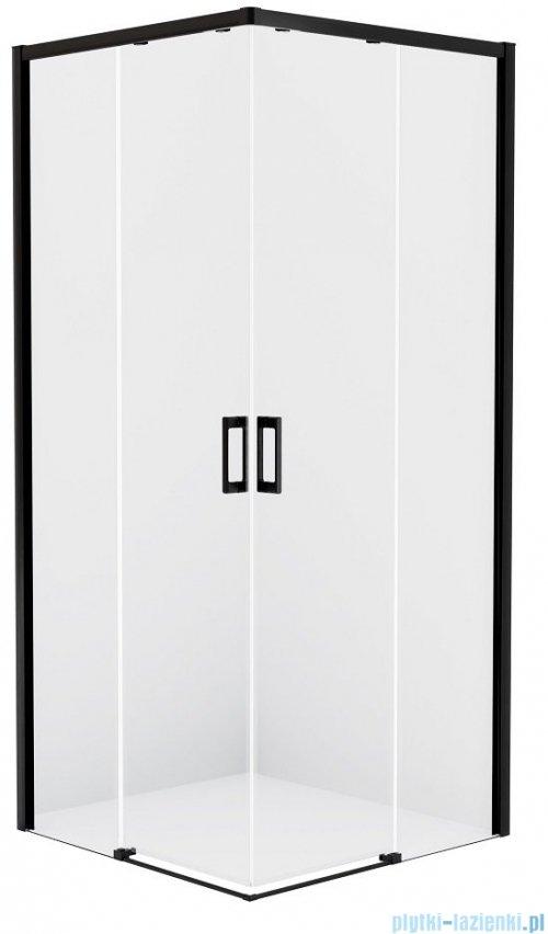 New Trendy Prime Black kabina prostokątna 100x80x200 cm przejrzyste D-0316A/D-0313A