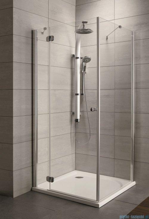 Radaway Torrenta Kdj Kabina prysznicowa 90x80 lewa szkło grafitowe + brodzik Doros D + syfon