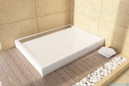 SanSwiss WIA Brodzik konglomeratowy prostokątny 80x120cm biały WIA801200404