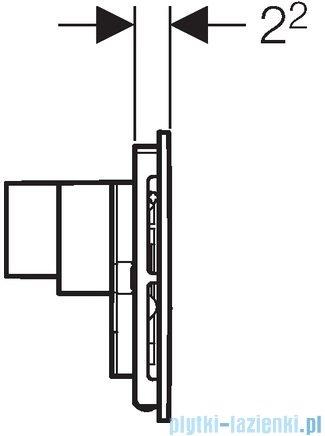 Geberit Sigma40 przycisk spłukujący do WC z odciągiem białe szkło 115.600.SI.1