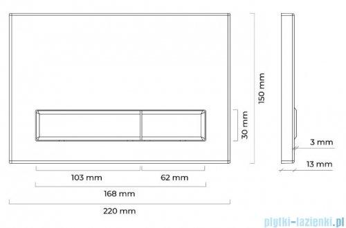 Oltens Torne przycisk spłukujący do WC chrom błyszczący 57101100