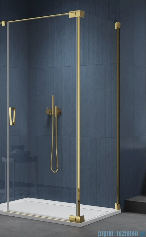 SanSwiss Cadura Gold Line ścianka boczna Cat2 75x200cm profile złote CAT20751207