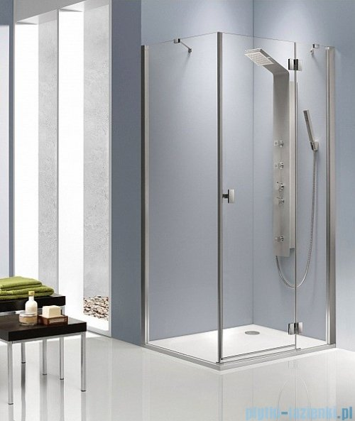 Radaway Kabina prysznicowa Essenza KDJ 100x100 prawa szkło przejrzyste + brodzik Delos C + syfon