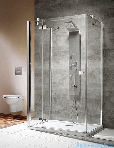 Radaway Kabina prysznicowa Almatea KDJ+S 80x90x80 lewa szkło przejrzyste + brodzik Doros D + syfon