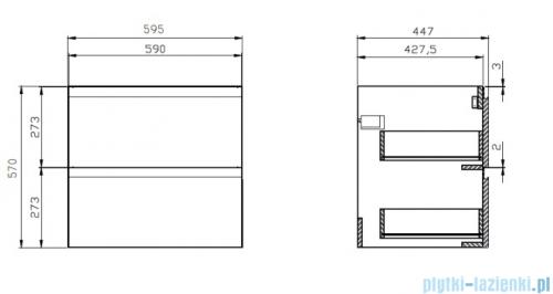 Cersanit Moduo Slim szafka wisząca 60x37x57 cm biała S929-004