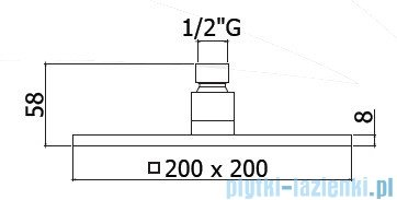 Paffoni Deszczownica 200x200 mm Level ZSOF075CR