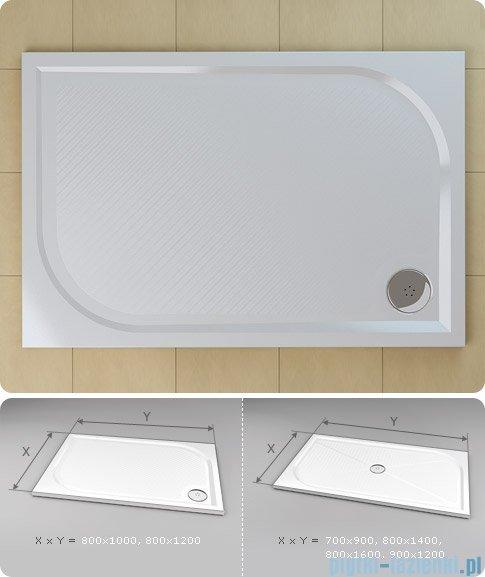 SanSwiss Marblemate Wma Brodzik prostokątny 80x160cm biały WMA8016004