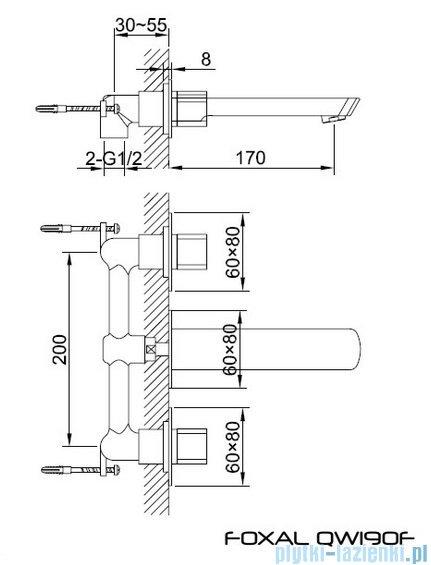 Kohlman Foxal podtynkowa bateria umywalkowa QW190F