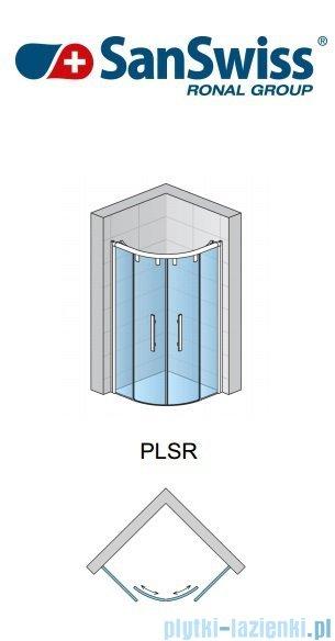 SanSwiss Pur Light S PLSR Kabina półokrągła 100cm przejrzyste/połysk PLSR501005007