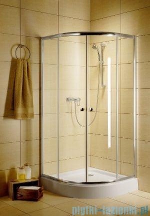 Radaway Classic A Kabina prysznicowa półokrągła z drzwiami przesuwnymi 80x80x185 szkło przejrzyste